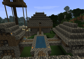 My minecraft house 4 by Mangabot