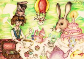 Drinking Tea with the Hatter by BeneathTheUmbrella