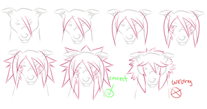 How to draw Fausto's hair by Roneri