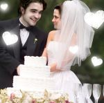 Bella and Edward Wedding Cake by TheSearchingEyes