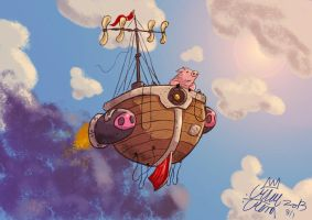 piggy fly away by crillecrona