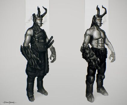 Hellboy Character Concepts by DanarArt