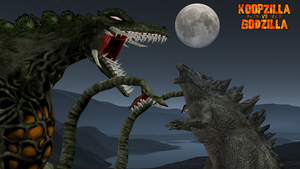Godzilla 2014 vs Biollante by KingAsylus91