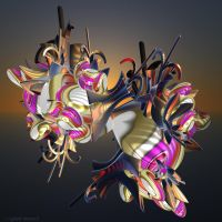 T30 Spikey Julia 3D 609 by GraphicLia