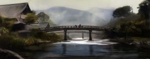 Japanese Bridge by Firegardensuite