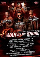 NWA Fight ! Nation War on the shore event flyer by Mohamed-Fahmy
