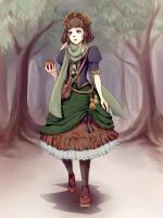 forest girl by tea-and-dreams