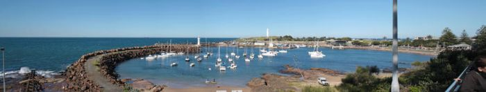 Panorama of Wollongong Harbour by Natnie