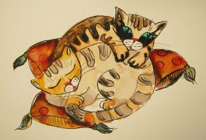 Two sleepy kittens by pagone