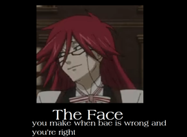 Grell The face by fullmetalshaman34