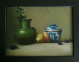 Still-life with pears by briannatron87