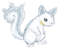 Real Pachirisu Sketch by fuzzball288