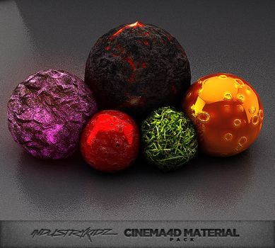 Cinema 4D Material Pack by Industrykidz