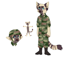 Custom: Army Kitty by radicaliron