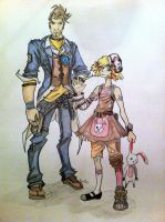 Handsome Jack and Tiny Tina by MarieDRose