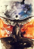 Mockingjay watercolor sketch by Sacrilence