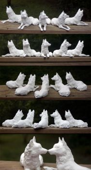 Laying Wolf Casts by SovaeArt