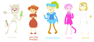 Adventure Time Humanized Characters 1 by EerieZombie
