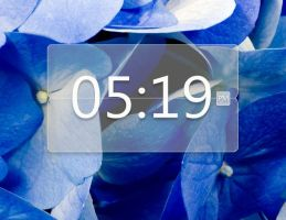 Opacity Clock for xwidget by jimking