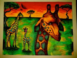 Radioactive Giraffes by honey-art