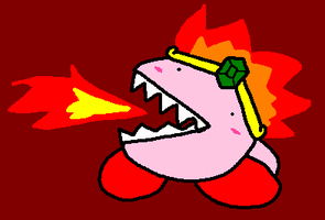 FIRE KIRBY by PuffyTrousers