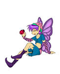 Purple Faerie and Ladybug by Kitsune64