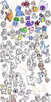 About 200 Pokemon by Miiroku