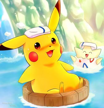 Floating Pikachu by Vermeilbird