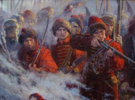 The wall. The defense of Smolensk(1609-1611)detail by Vladimir-Kireev