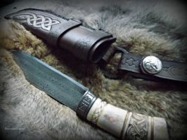 Sheath 1 and Knife by The-Beast-Man