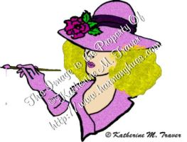 Painter Lady- in Bright Pink by Katrina1944