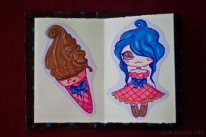 Chocolate Girls: pages 3 and 4 by uvita