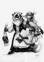 Redwall Constance meet Sela by FairytalesArtist