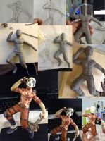 Borderlands Psycho Sculpture Process by AngelicaScribbler