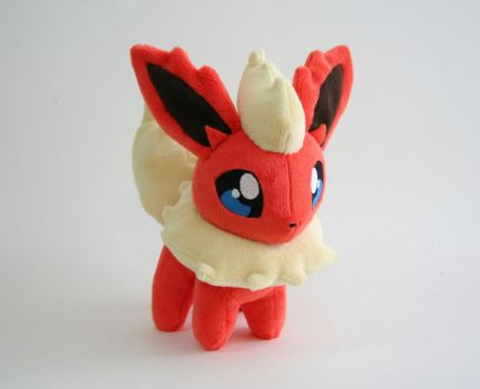Flareon Chibi Plush by Yukamina-Plushies