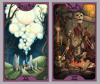.Lovecraft Tarot: Judgement + Death. by MalakiaLaGatta