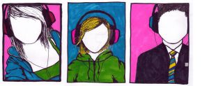 Headphone Collage by mar-design