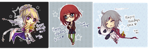 01. holiday cards by akiicchi