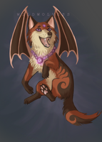 Batty Canine CLOSED by WildWolvess