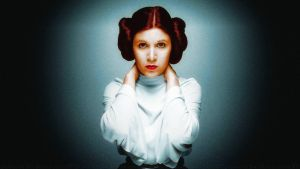 Carrie Fisher Princess Leia Colourized by Dave-Daring