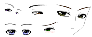 New eye style by Hero-of-Awesome
