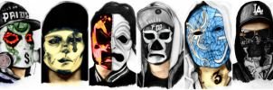 Hollywood Undead (colour) by deathlouis