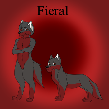 Fieral Ref for Nightly-howler by SolitaryGrayWolf