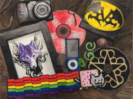 Watercolor Still Life by lucidcoyote