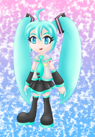 Vocaloid Miku Hatsune colored by MikariStar