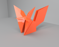 Origami Fox by pyrohmstr