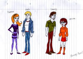 Scooby Doo Gang Redesign by x-men-pro