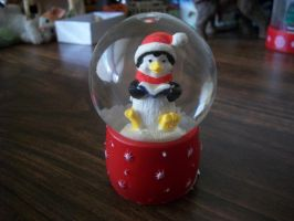 Caroling Penguin Snowglobe by PharaohAtisLioness