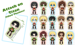 SNK Chibi Pillow Designs! by Kafai