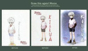Before And After: Killua by ButcherStudios